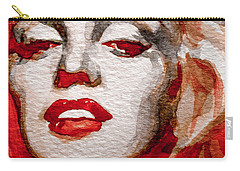 Carry-all Pouch featuring the painting Gentlemens Prefer Blondes by Laur Iduc