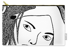 Carry-all Pouch featuring the drawing Genuine by Jamie Lynn