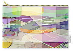 Carry-all Pouch featuring the digital art Geo-art by Cathy Anderson