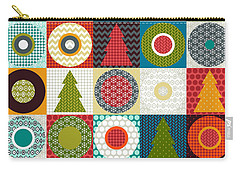 Geo Christmas Carry-all Pouch