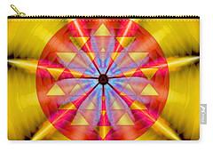 Geo-cosmic Sri Yantra Carry-all Pouch