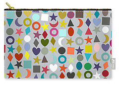 Geo Garland Silver Carry-all Pouch
