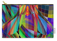 Geometric Alien Fly Carry-all Pouch by Stephanie Grant