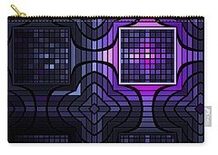 Carry-all Pouch featuring the digital art Geometric Stained Glass by GJ Blackman