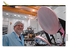 Carry-all Pouch featuring the photograph George F. Smoot With Planck Obs. Mirrors by Science Source