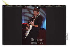 Carry-all Pouch featuring the photograph George Thorogood II by John Telfer