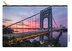 Carry-all Pouch featuring the photograph George Washington Bridge by Mihai Andritoiu