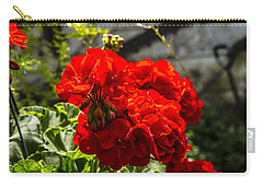 Carry-all Pouch featuring the photograph Geranium Bloom by Mez