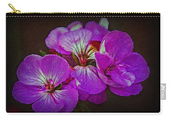 Carry-all Pouch featuring the photograph Geranium Blossom by Hanny Heim