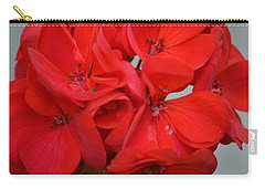 Geranium Red Carry-all Pouch