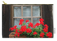 Geraniums In Timber Window Carry-all Pouch