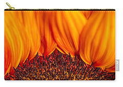 Carry-all Pouch featuring the photograph Gerbera On Fire by Adam Romanowicz