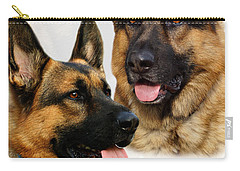 German Shepherd Collage Carry-all Pouch by Sandy Keeton