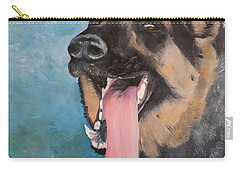 German Shepherd Dog Oil Painting Carry-all Pouch