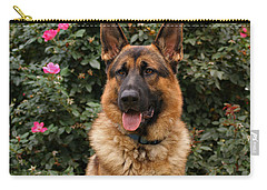 German Shepherd Dog Carry-all Pouch by Sandy Keeton