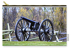 Carry-all Pouch featuring the photograph Gettysburg Battlefield Cannon by Patti Whitten