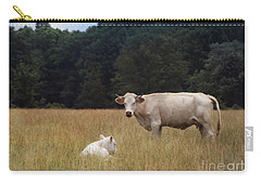 Ghost Cow And Calf Carry-all Pouch