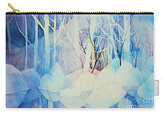 Carry-all Pouch featuring the painting Ghost Forest by Teresa Ascone