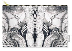 Carry-all Pouch featuring the painting Ghost In The Machine - Detail Mirrored by Otto Rapp