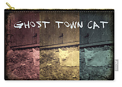 Carry-all Pouch featuring the photograph Ghost Town Cat by Absinthe Art By Michelle LeAnn Scott
