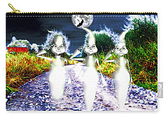 Carry-all Pouch featuring the digital art Ghosts by Daniel Janda
