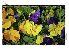 Giant Garden Pansies Carry-all Pouch by Ed  Riche