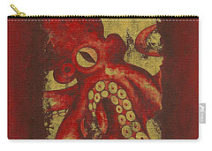 Giant Red Octopus Carry-all Pouch