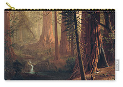 Giant Redwood Trees Of California Carry-all Pouch by Albert Bierstadt