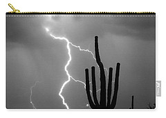Giant Saguaro Cactus Lightning Strike Bw Carry-all Pouch