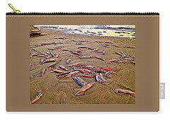 Carry-all Pouch featuring the photograph Giant Squid Capitola Beach by Antonia Citrino
