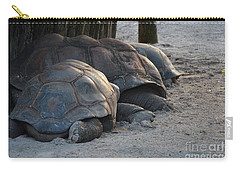 Carry-all Pouch featuring the photograph Giant Tortise by Robert Meanor