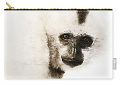 Carry-all Pouch featuring the digital art Crested Gibbon #1 by Nola Lee Kelsey