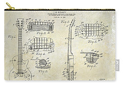 Gibson Les Paul Patent Drawing Carry-all Pouch by Jon Neidert