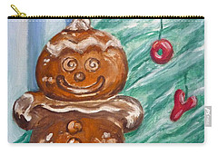 Gingerbread Cookies Carry-all Pouch by Victoria Lakes