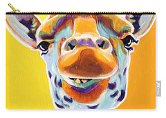 Giraffe - Sunflower Carry-all Pouch