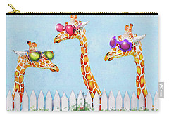 Giraffes In Sunglasses Carry-all Pouch