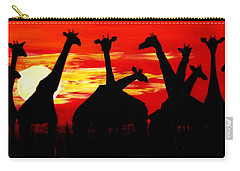 Giraffes Sunset Africa Serengeti Carry-all Pouch