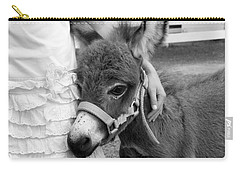 Girl And Baby Donkey Carry-all Pouch
