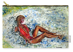 Girl In A Red Swimsuit Carry-all Pouch