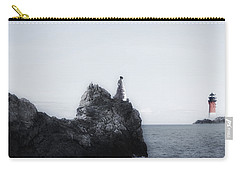Girl On Cliffs Carry-all Pouch by Joana Kruse