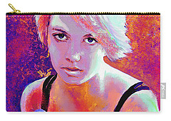Carry-all Pouch featuring the digital art Girl On Fire by Jane Schnetlage