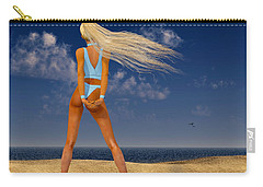 Girl On The Beach... Carry-all Pouch by Tim Fillingim