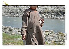 Carry-all Pouch featuring the photograph Girl Poses For Camera  by Imran Ahmed
