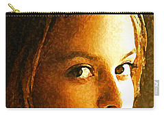 Carry-all Pouch featuring the painting Girl Sans by Richard Thomas