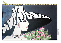 Girl That Loves Pink  Art Deco Carry-all Pouch