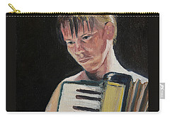 Girl With Accordion Carry-all Pouch