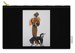 Carry-all Pouch featuring the painting Girl With Orange Fur by Nora Shepley