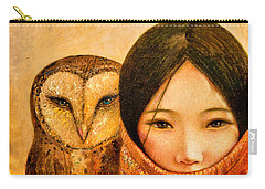 Girl With Owl Carry-all Pouch