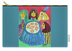 Carry-all Pouch featuring the painting Girlfriends by Diane Pape