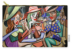 Carry-all Pouch featuring the painting Girls Night Out by Anthony Falbo